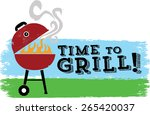 it's time to grill | Shutterstock .eps vector #265420037