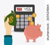 taxes design over white... | Shutterstock .eps vector #265424864