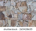 Small photo of rectangular tiles of pieces gahnite and marble with cracks and patches for landscaping