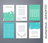 template. set of creative cards....   Shutterstock .eps vector #265429757