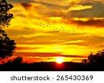 Stock photo sunrise on the mountain 265430369