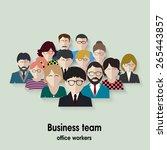 business team. group of office...   Shutterstock . vector #265443857