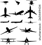 vector silhouettes of aircraft. ... | Shutterstock .eps vector #265449434