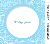 vintage frame with ornamental... | Shutterstock .eps vector #265450451