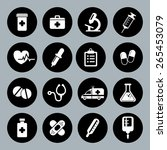 set of vector medical icons in... | Shutterstock .eps vector #265453079