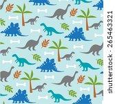 dinosaurs | Shutterstock .eps vector #265463321