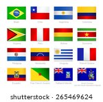 south america detailed flags... | Shutterstock .eps vector #265469624