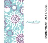 vector purple and blue floral... | Shutterstock .eps vector #265478051