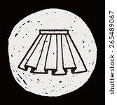 doodle pleated skirt | Shutterstock .eps vector #265489067