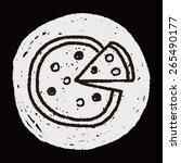 doodle pizza | Shutterstock .eps vector #265490177