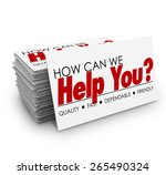 how can we help you words on a... | Shutterstock . vector #265490324