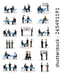 business people  different... | Shutterstock .eps vector #265491191