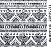 tribal vector seamless pattern... | Shutterstock .eps vector #265493081