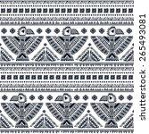 tribal vector seamless pattern... | Shutterstock .eps vector #265493081