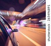night traffic of highway... | Shutterstock . vector #265496891