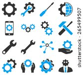 options and tools icon set....   Shutterstock .eps vector #265499507