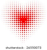 red halftone heart. vector...