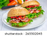 Healthy Sandwiches With Ham An...