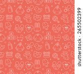 baby line icon pattern set | Shutterstock .eps vector #265502399