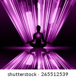 man meditation on purple light... | Shutterstock .eps vector #265512539