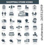 shopping icon set design black... | Shutterstock .eps vector #265512959