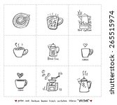 hand drawn cafe poster... | Shutterstock .eps vector #265515974