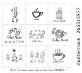 hand drawn cafe poster... | Shutterstock .eps vector #265515977