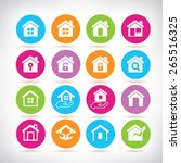home icons | Shutterstock .eps vector #265516325
