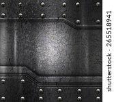 crack metal background template  | Shutterstock . vector #265518941