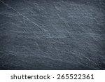 dark grey black slate... | Shutterstock . vector #265522361