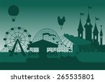 amusement park background  | Shutterstock .eps vector #265535801