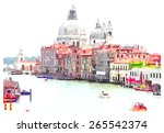 Watercolor Illustration Venice...