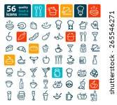 line icon of food and drink ... | Shutterstock .eps vector #265546271