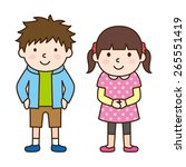 children   brother and sister   Shutterstock .eps vector #265551419