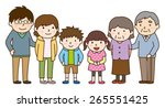 family set   parent and child... | Shutterstock .eps vector #265551425