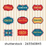 vintage hipster circus labels... | Shutterstock .eps vector #265560845