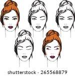 face chart makeup artist blank. ...