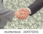 handshake between two business... | Shutterstock . vector #265573241