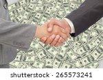 handshake between two business... | Shutterstock . vector #265573241
