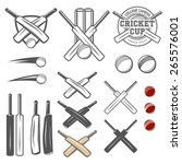 set of cricket team emblem... | Shutterstock .eps vector #265576001