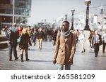 man walking in london on thames ... | Shutterstock . vector #265581209