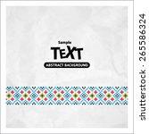 border decoration elements... | Shutterstock .eps vector #265586324