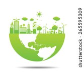 world green ecology city... | Shutterstock .eps vector #265595309