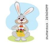 illustration for easter. bunny...   Shutterstock .eps vector #265604099