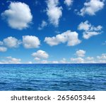 blue sea water surface on sky | Shutterstock . vector #265605344