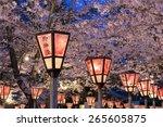 lantern in sakura festival at...   Shutterstock . vector #265605875