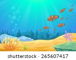 under the sea background vector | Shutterstock .eps vector #265607417