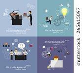 vector illustration of teamwork ... | Shutterstock .eps vector #265615097