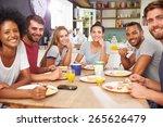group of friends enjoying... | Shutterstock . vector #265626479