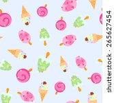 ice cream print | Shutterstock .eps vector #265627454